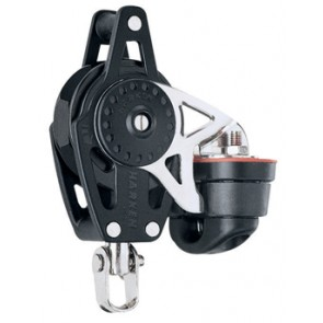 Polea Harken winche Ratchet giratoria 40 mm con mordaza 471 Carbo-Cam y arraigo
